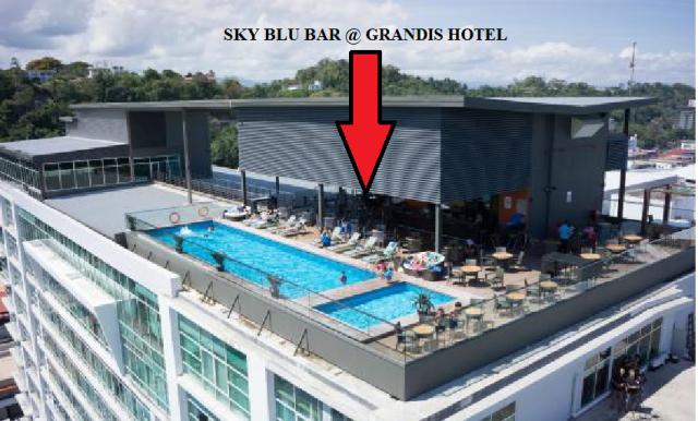 Sky blu bar