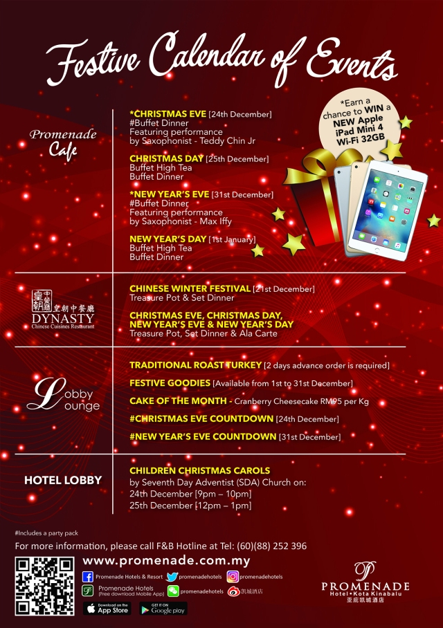 promenade-hotel-kks-festive-calender-of-events-2016