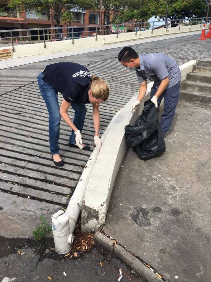 LMKK - Rachael Harmen leading the team to clean the surroundings of the ...
