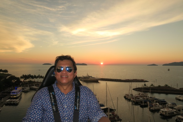 Chairman of Sabah Tourism Board - YB Datuk Joniston Lumai enjoying the sunset view