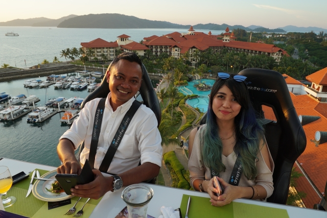 Vips with wonderful Sutera Harbour view